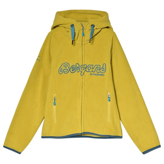 Bergans Yellow Bryggen Youth Fleece Hooded Jacket 10990