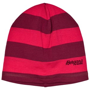 Bergans Red Striped Fjellrapp Youth Beanie One Size