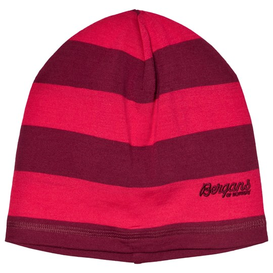 Bergans Red Striped Fjellrapp Youth Beanie 091