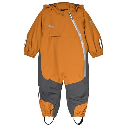 Bergans Orange and Grey Snötid Kids Ski Snow Suit 10986