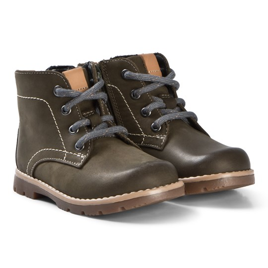 Clarks Comet Rock Boots Olive Leather Olive Leather