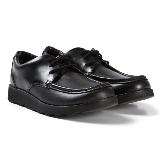 Clarks Crown Tate Shoes Black Leather Black Leather
