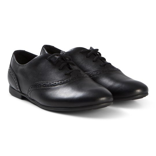 Clarks Jules Walk Shoes Black Leather Black Leather