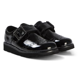 Clarks Crown Pride Shoes Black Patent Leather
