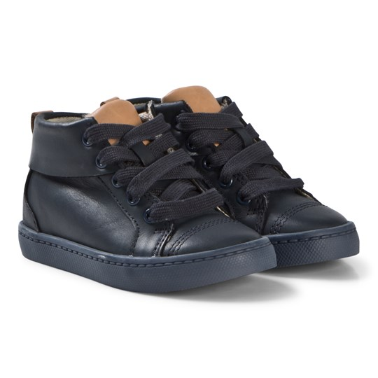Clarks City Oasis Hi Boots Navy Leather NAVY LEATHER