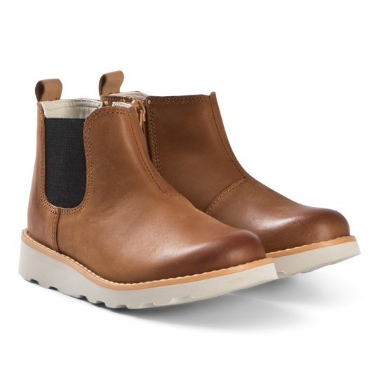 Clarks Crown Halo Boots Tan Leather Tan Leather
