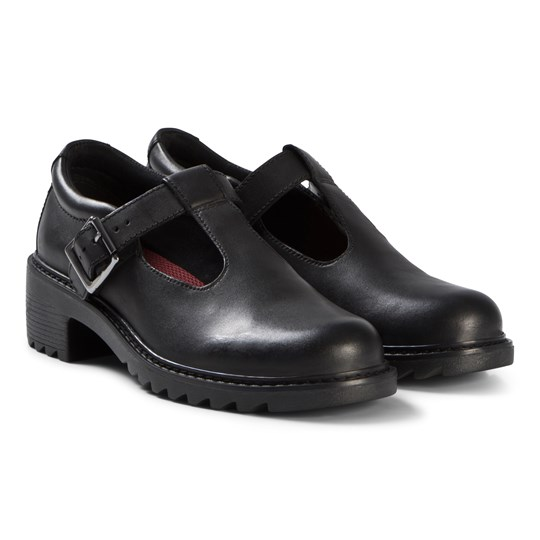 Clarks Frankie Street Shoes Black Leather Black Leather