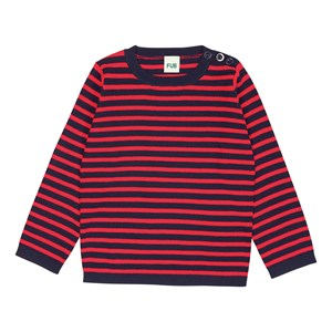 Image of FUB Thin Sweater Navy/Red 110 cm (4-5 år) (3057106161)