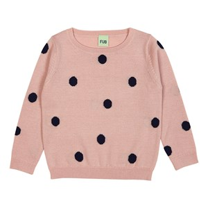 Image of FUB Dot Sweater Rose/Navy 100 cm (3-4 år) (3057106179)