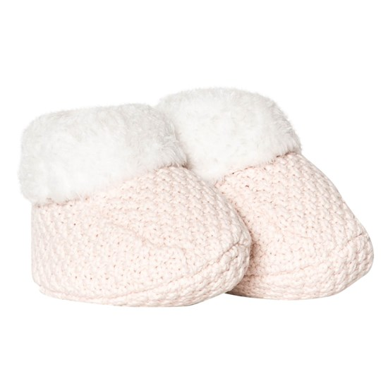 The Little Tailor Pink Knitted Crib Shoes P