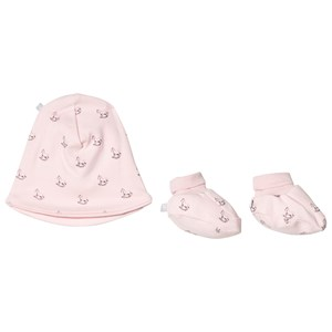 Image of The Little Tailor Pink Hat and Booties Gift Set 6-12 months (1207423)