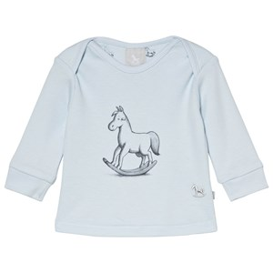 Image of The Little Tailor Blue Rocking Horse Long Sleeve Tee 0-3 months (1207459)