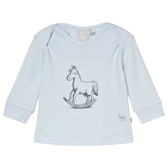 The Little Tailor Blue Rocking Horse Long Sleeve Tee B