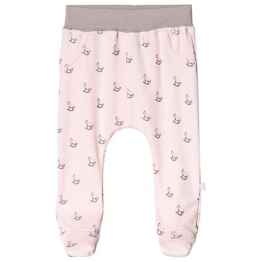 The Little Tailor Pink Rocking Horse Footed Pants P