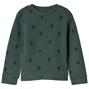 Image of Sproet & Sprout Ants Print Sweater Forest Green 86-92 (18-24 months) (3065528195)