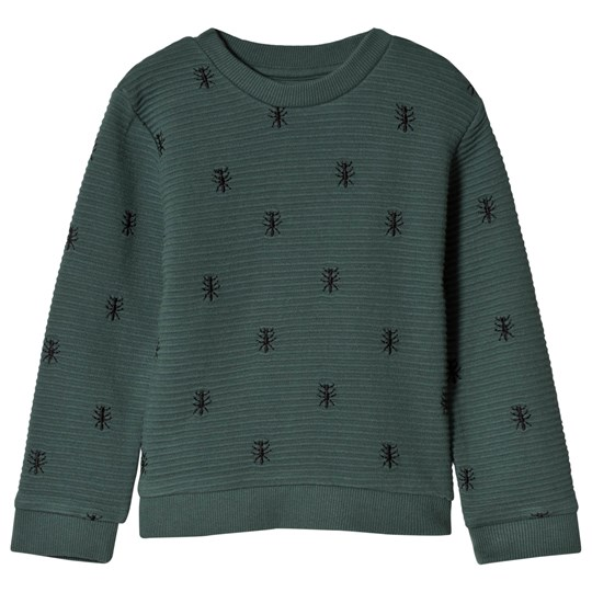 Sproet & Sprout Ants Print Sweater Forest Green Forest Green