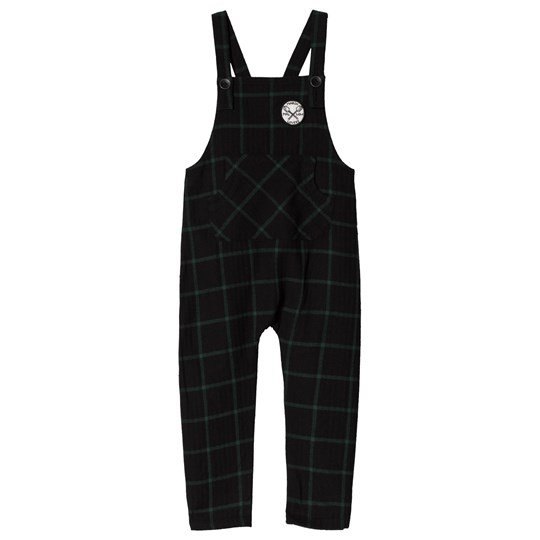 Sproet & Sprout Check Overalls Forest Green/Black Forest Green