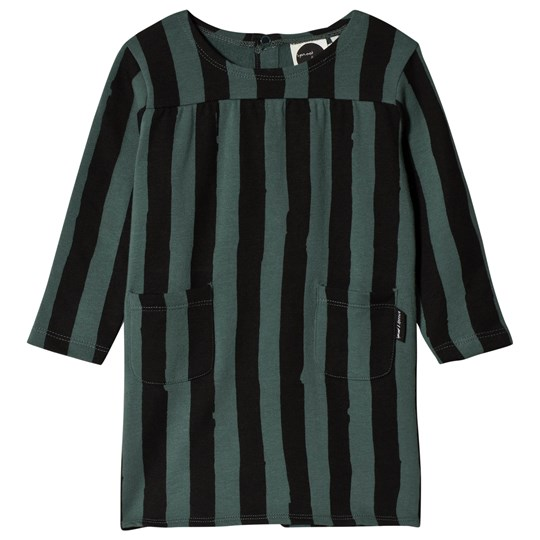Sproet & Sprout Stripe Sweat Dress Forest Green/Black Forest Green