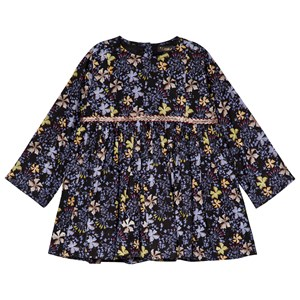 Image of Velveteen Embroidered Dress Black Forest Print 12 months (3058028223)