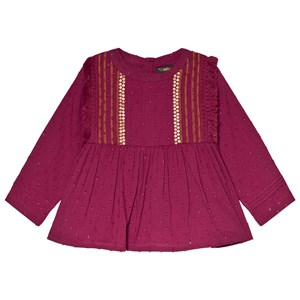Image of Velveteen Embroidered Yoke Top Berry 10 years (3056107857)