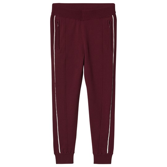 Little Remix Cassy Pants Burgundy Burgundy/White Piping