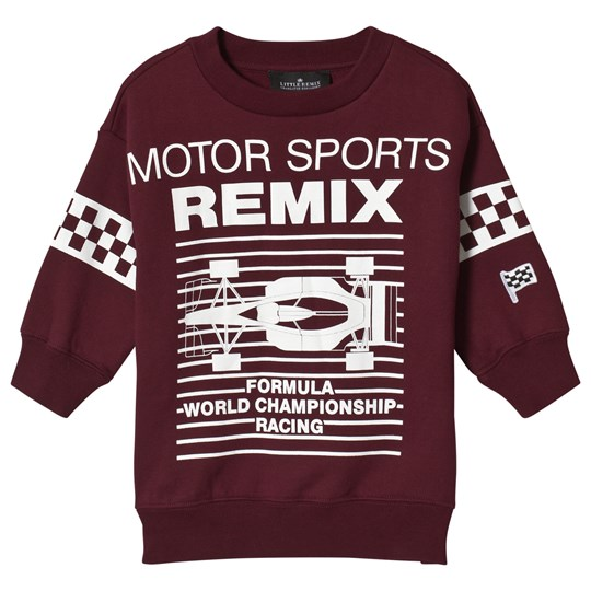 Little Remix Lewis Motor Sweatshirt Burgundy Burgundy