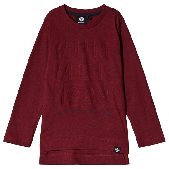 Hummel Edwin Long Sleeve Tee Rumba Red Rumba Red