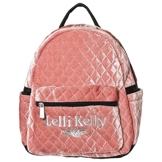 Lelli Kelly Pink Quilted Logo Backpack Pink