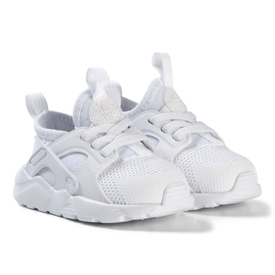 NIKE White Nike Huarache Run Ultra Infants Shoes 100