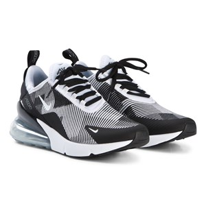 Image of NIKE Air Max 270 sko Black and White 35.5 (UK 3) (3056096479)