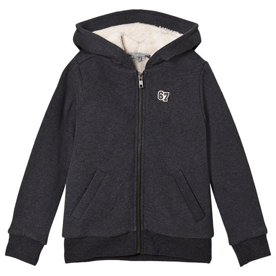 Bonpoint Charcoal Teddy Lined Hoodie 199