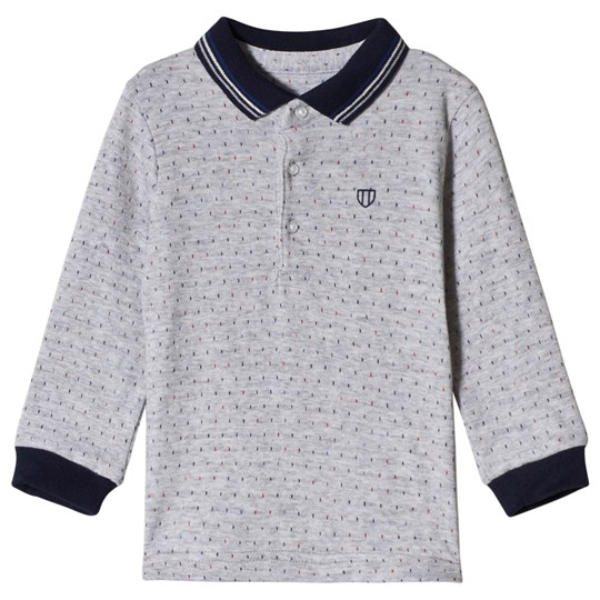 Mayoral Pearl Micro-Patterned Long Sleeve Polo 16