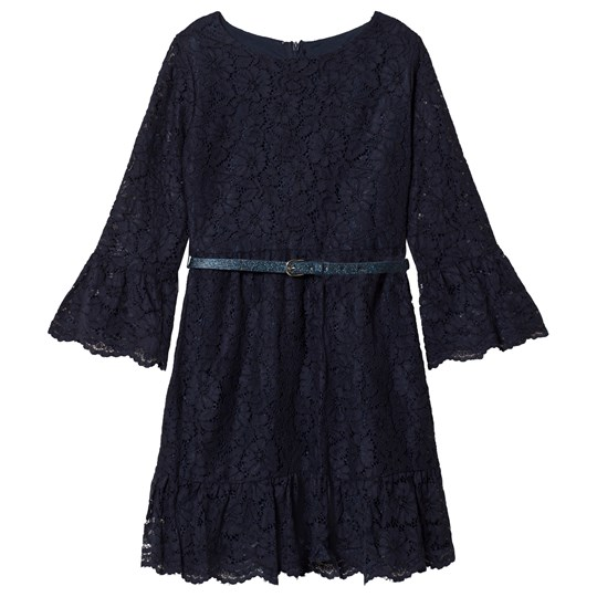 Mayoral Lace Dress with Belt Navy 90