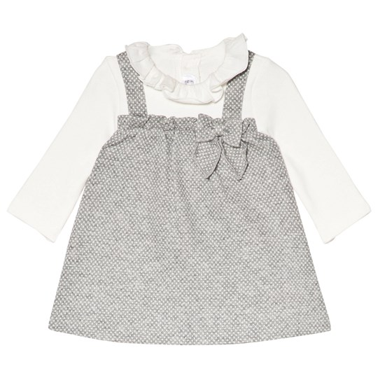 Mayoral Grey Frill Collar Knitted Dress 26