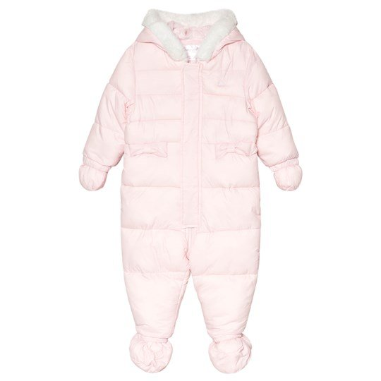 Mayoral Pink Padded Fleece Lined Hooded Snowsuit with Mittens and Booties 12