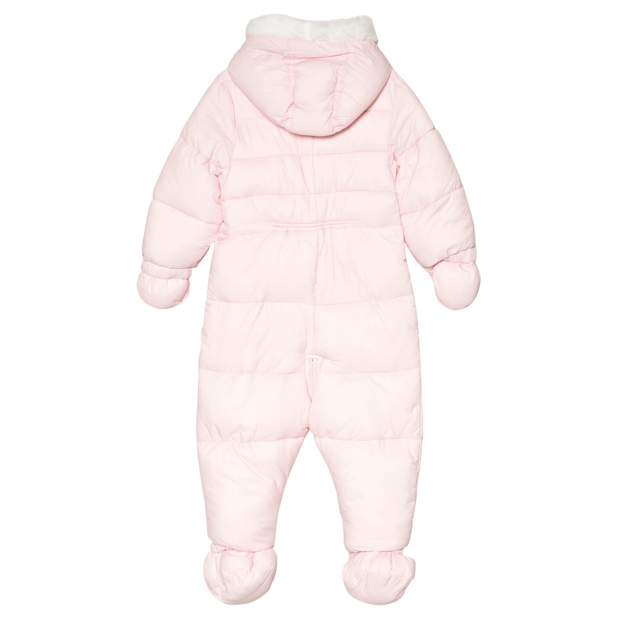 3539e173a Mayoral - Pink Padded Fleece Lined Hooded Snowsuit with Mittens and ...