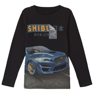Image of Mayoral Black Shibuya Car Print Long Sleeve Tee 12 years (3056089205)