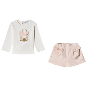 Image of Mayoral Tee and Shorts Set Pink 36 months (3056091409)