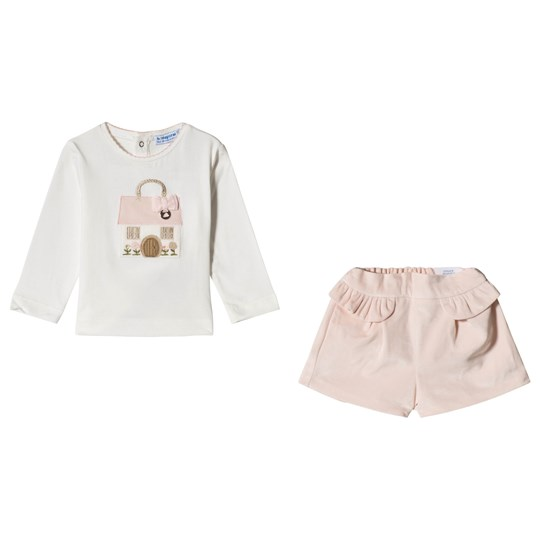 Mayoral Tee and Shorts Set Pink 73