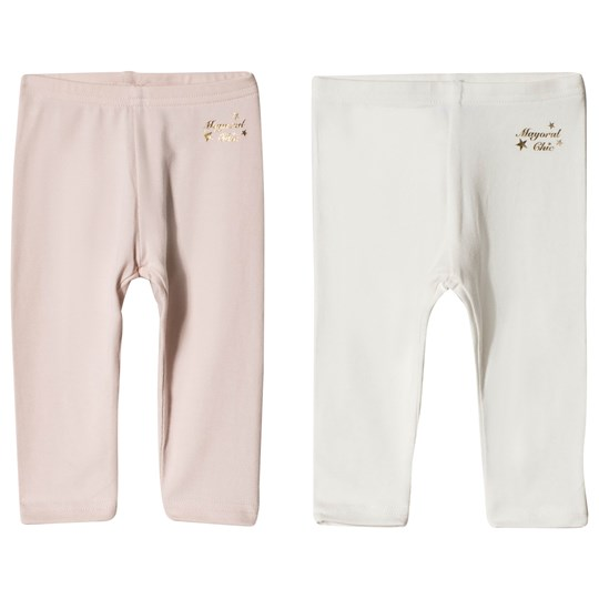 Mayoral Pink and White Leggings 2-Pack 84