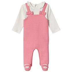 Mayoral Overalls Footed Baby Body Blush