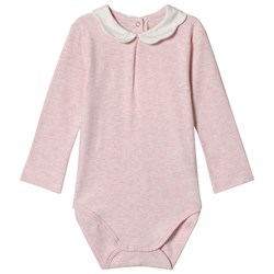 Mayoral Pink Marl Baby Body with Scalloped Collar