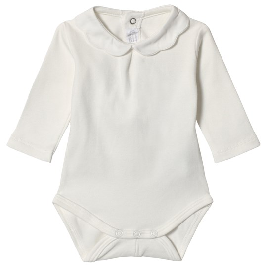 Mayoral Cream Baby Body with Scalloped Collar 40