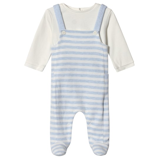 Mayoral Striped Footed Baby Body Sky Blue 59