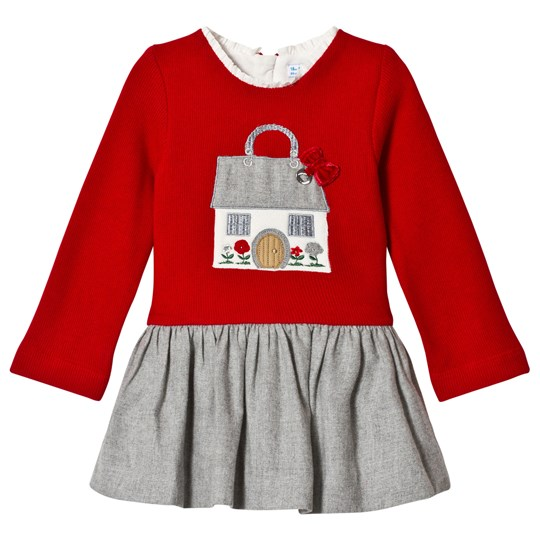 Mayoral Red Knit Embroidered House Dress 95