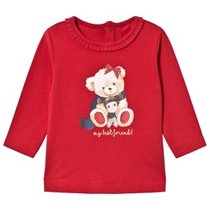 Image of Mayoral Bear Graphic Long Sleeve Tee Red 12 months (3056091477)