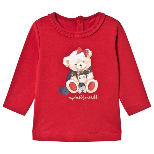 Mayoral Bear Graphic Long Sleeve Tee Red 78
