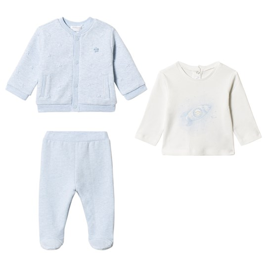 Mayoral Knit Layette Set Blue/White 63