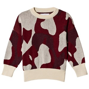 Image of Wynken Animal Camo Sweater Apache Red 10-11 years (3056072423)