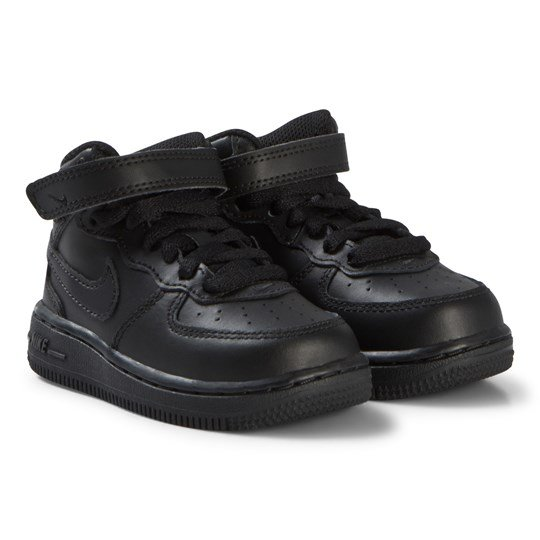 NIKE Black Air Force 1 Mid Infant Shoes 004